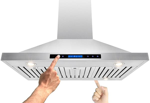 Best island range hoods - AKDY - big PS